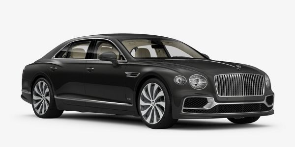 Anthracite 2020 Bentley Flying Spur on White Background