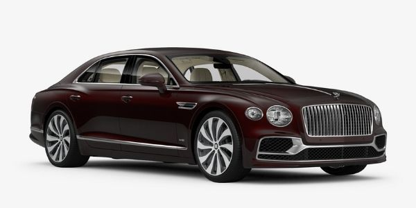 Cricket Ball 2020 Bentley Flying Spur on White Background
