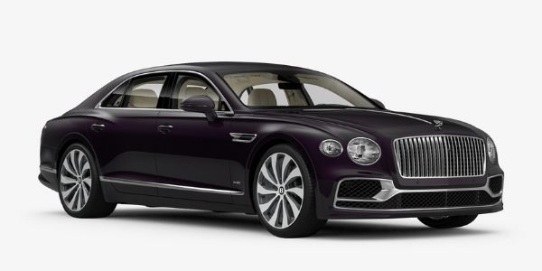 Damson 2020 Bentley Flying Spur on White Background