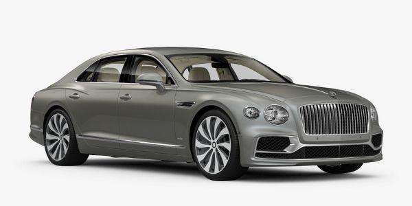 Extreme Silver 2020 Bentley Flying Spur on White Background
