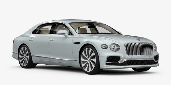 Ice 2020 Bentley Flying Spur on White Background