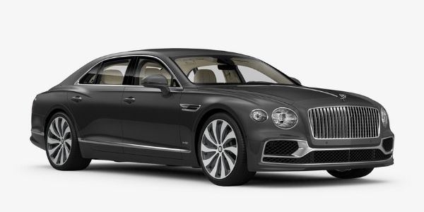 Magnetic 2020 Bentley Flying Spur on White Background