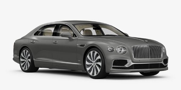 Silver Tempest 2020 Bentley Flying Spur on White Background