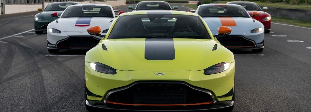 All Aston Martin Heritage Racing Edition Front Exteriors on the Track