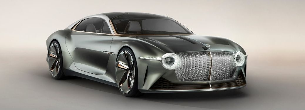 Compass Bentley EXP 100 GT Front and Side Exterior on Gray Background