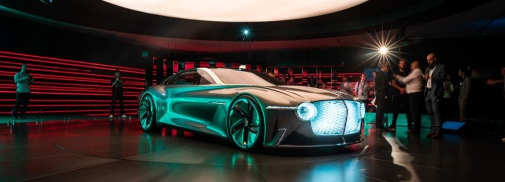 Bentley EXP 100 GT Concept on Stage at an Auto Show