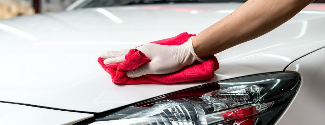 A stock photo of a car being detailed.