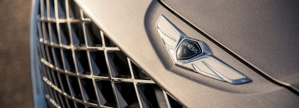 Close Up of a 2021 Genesis GV80 Front Badge