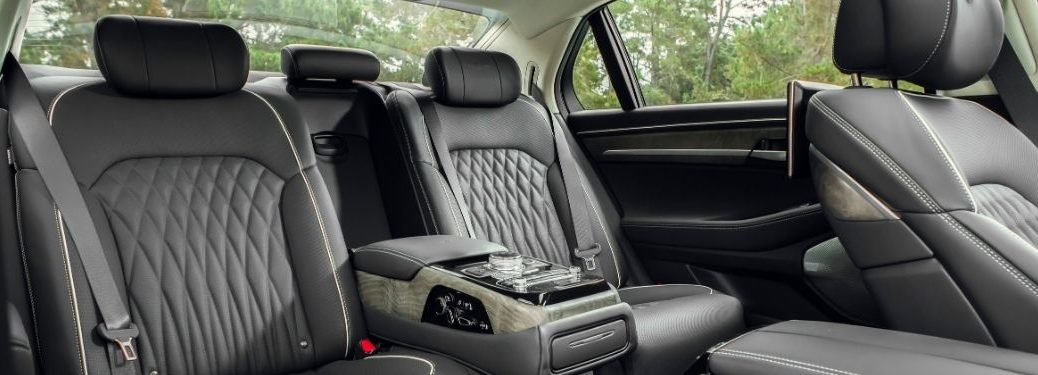 2021 Genesis G90 Rear Seats with Black Nappa Leather Interior