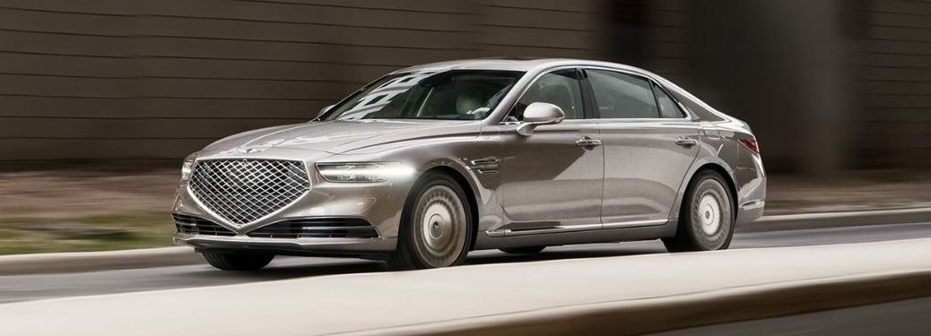Pearl 2022 Genesis G90 Front Exterior on a City Street