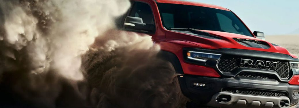 2021 Ram 1500 TRX driving in the dust