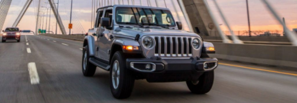 2021 Jeep Wrangler in gray