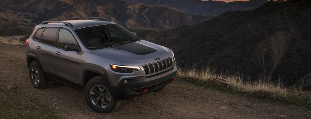 2021 Jeep Cherokee on a desert road