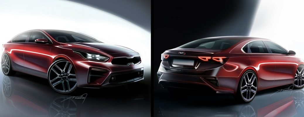 2019 Kia Forte Renderings of Front and Rear