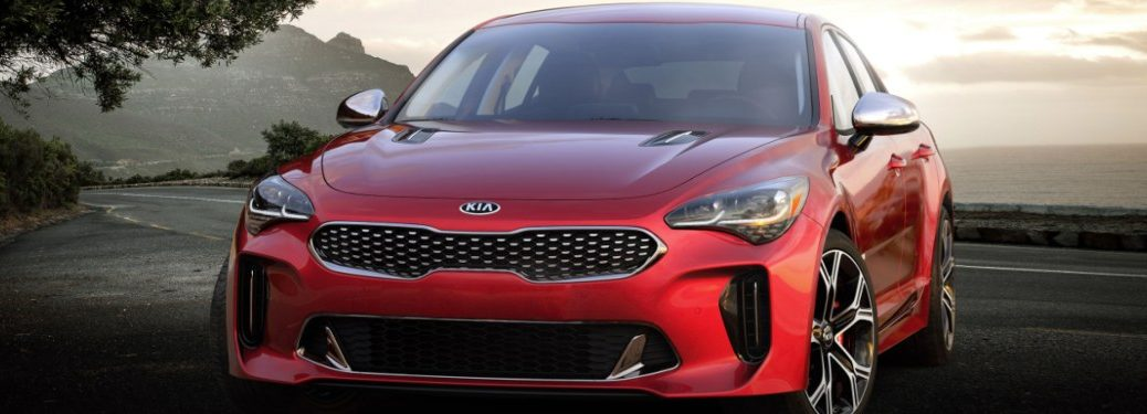 2021 Kia Stinger parked in a lot on a mountain