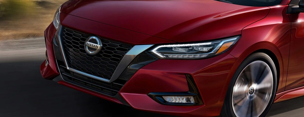 Front grille of the 2021 Nissan Sentra