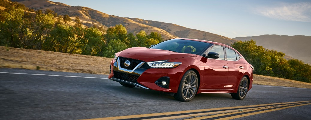 Red 2021 Nissan Maxima
