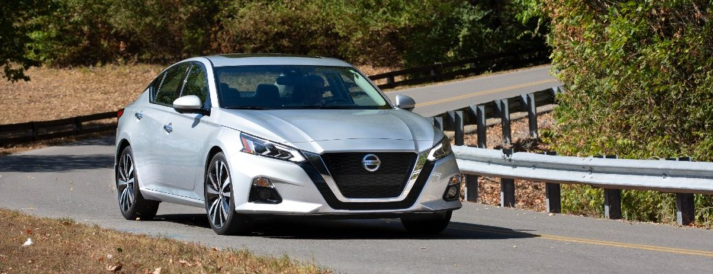 The 2021 Nissan Altima on the road.