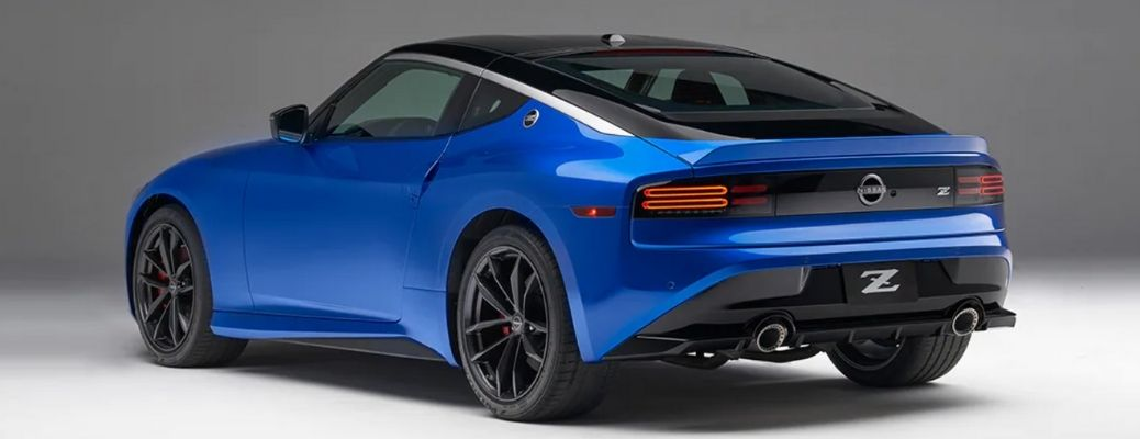 rear quarter view of the 2023 Nissan Z