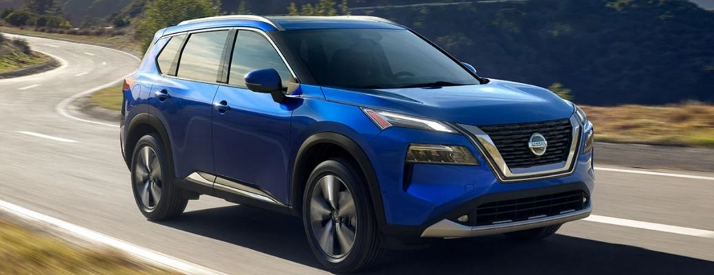 front and side view of the 2021 Nissan Rogue