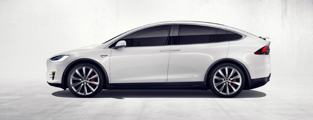 Self-Driving Features on the Tesla Model X Side Profile