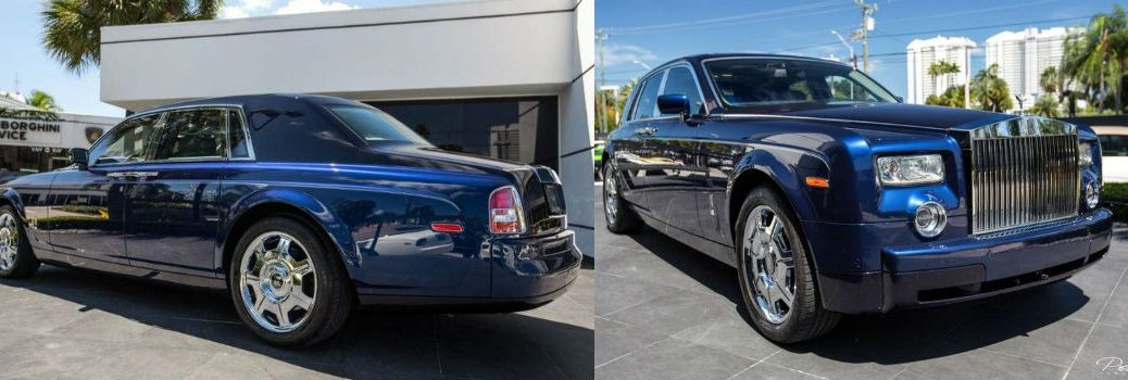 2006 Rolls-Royce Phantom Exterior Rear Driver and Front Passenger Side Profiles