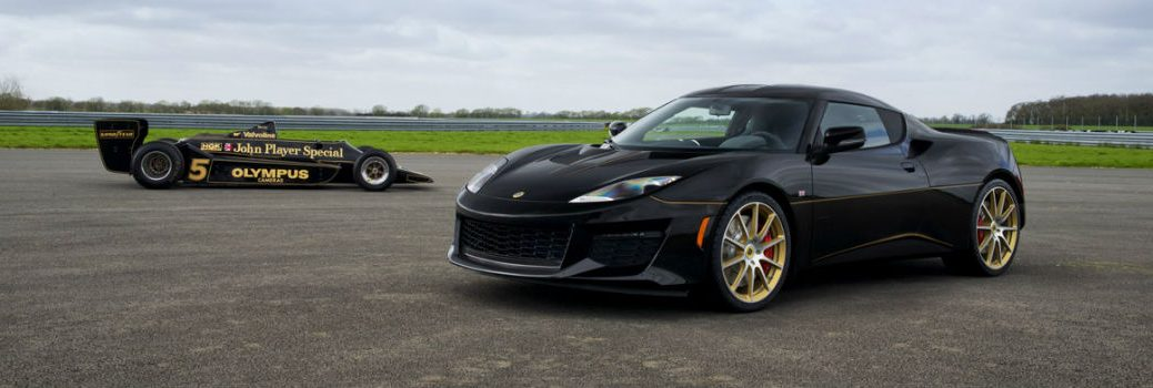 2018 Lotus Evora Sport 410 Exterior Driver Side Front with F1