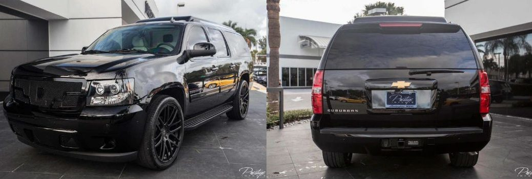 2013 Chevy Suburban CEO JET Edition Mobile Office LT Exterior Front Driver Side Rear Fascia