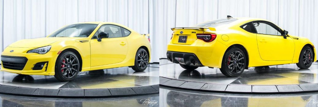 2017 Subaru BRZ Series Yellow Exterior Front Driver Side Rear Passenger Side