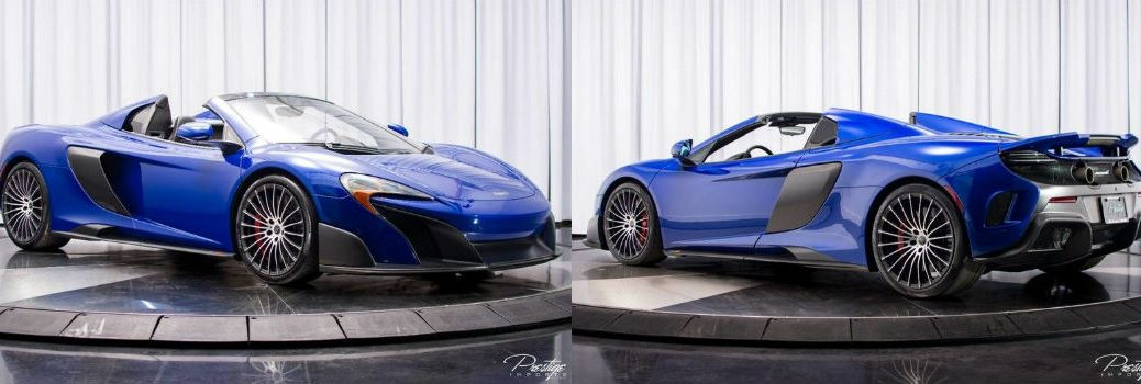 2016 McLaren 675LT Exterior Passenger Side Front and Passenger Side Rear