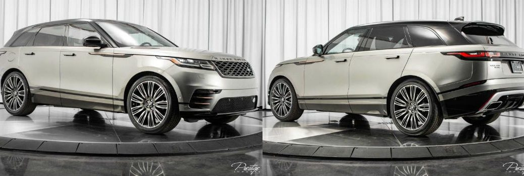 2018 Land Rover Range Rover Velar First Edition Exterior Passenger Side Front and Driver Side Rear