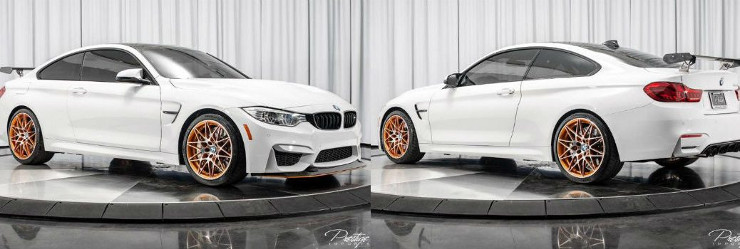 2016 BMW M4 GTS Exterior Passenger Side Front Driver Side Rear Profiles
