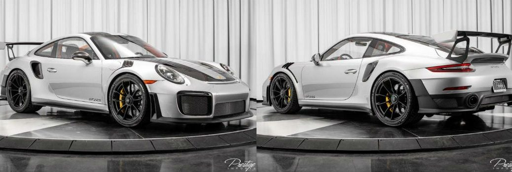 2018 Porsche 911 GT2 RS with Weissach Package Exterior Passenger Side Front Driver Side Rear Angles