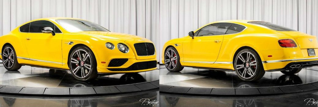 2016 Bentley Continental GT V8 S Exterior Passenger Side Front Driver Side Rear Profiles