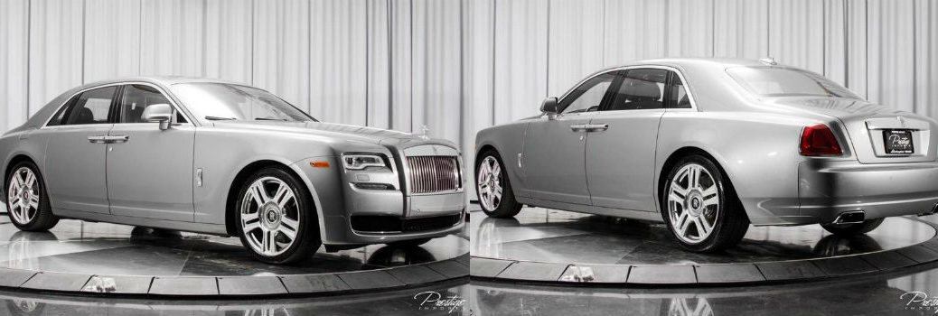 2015 Rolls-Royce Ghost Exterior Passenger Side Front Driver Side Rear Profiles