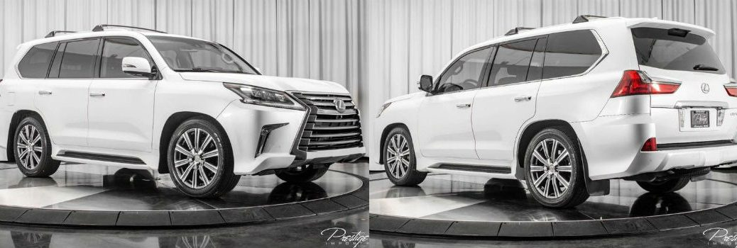2017 Lexus LX 570 Exterior Passenger Side Front Driver Side Rear Angles