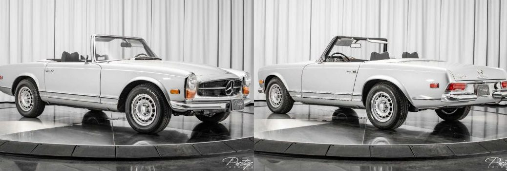 1968 Mercedes-Benz 280SL Convertible Exterior Passenger Side Front Driver Side Rear Angles