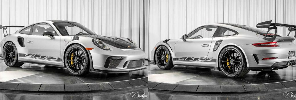 2019 Porsche GT3 RS Weissach Package Exterior Passenger Side Front Driver Side Rear Angles