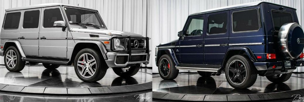 Two Different Mercedes-Benz AMG G-Class Models Exterior Profiles