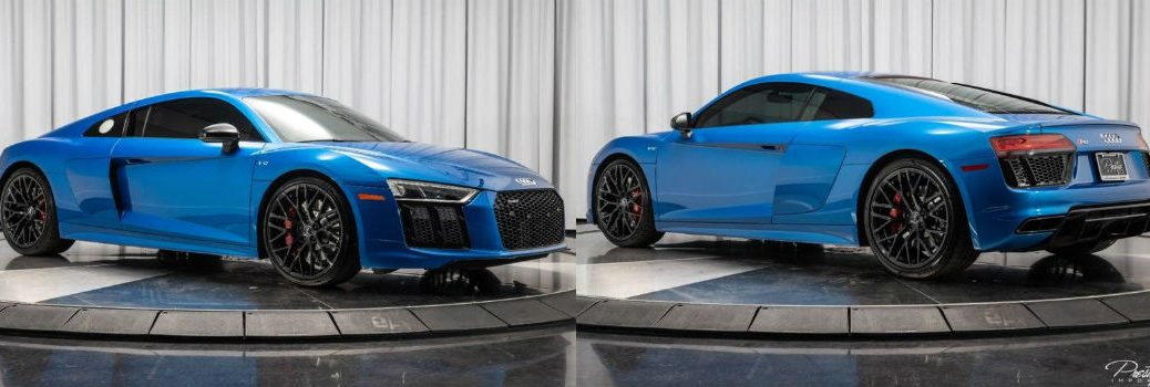 2018 Audi R8 Coupe RWS Exterior Passenger Side Front Driver Side Rear Profiles