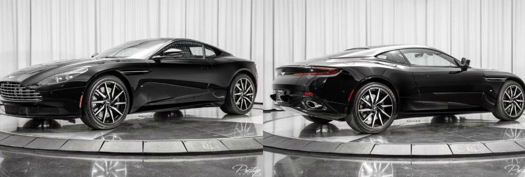 2017 Aston Martin DB11 Launch Edition Exterior Driver Side Front Passenger Side Rear Profiles