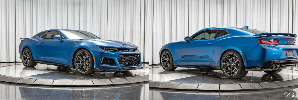 2018 Chevrolet Camaro ZL1 Exterior Passenger Side Front Driver Side Rear Profiles