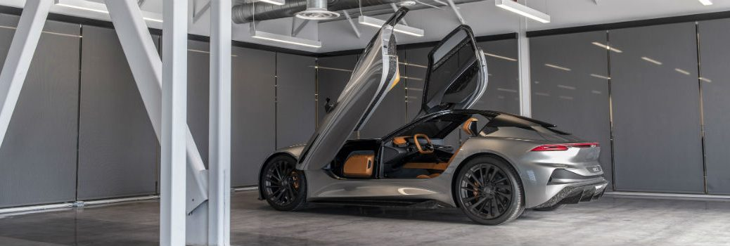 Karma SC2 Concept Exterior Driver Side Rear Profile with Doors Up