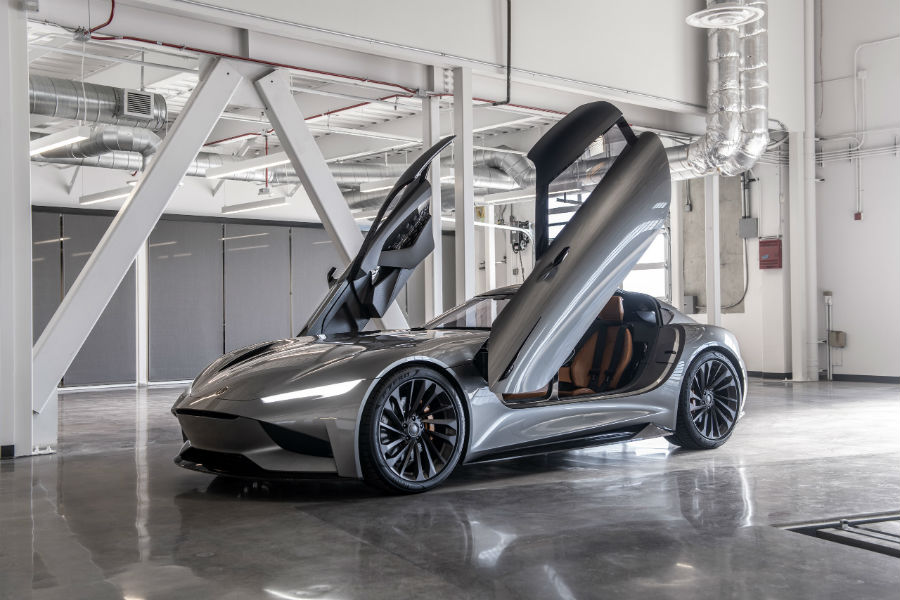 Karma SC2 Concept Exterior Driver Side Front Profile with Doors Up