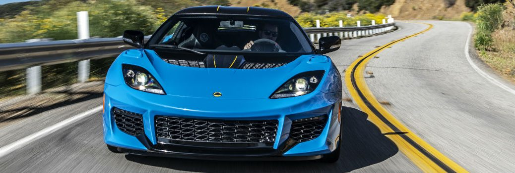 2020 Lotus Evora GT Cyan Blue Exterior Front Fasica