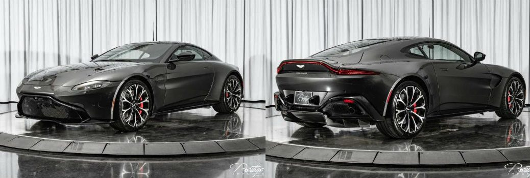 2019 Aston Martin Vantage Exterior Driver Side Front Passenger Rear Profiles