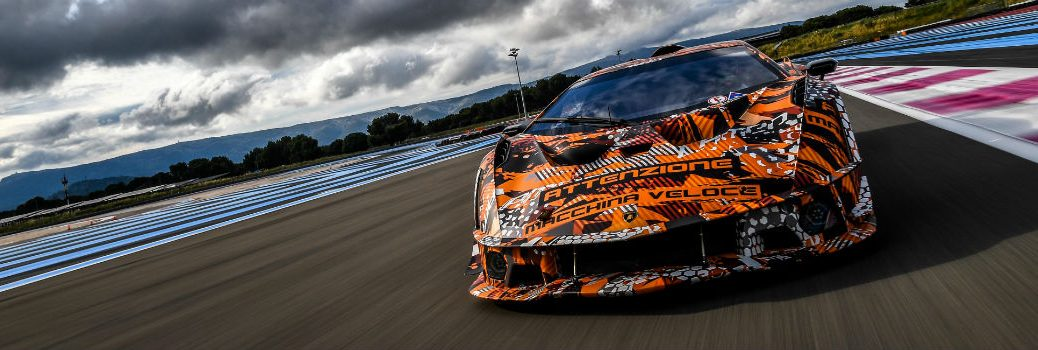 Lamborghini SCV12 Track-Only Hypercar Exterior Front Fascia on Track