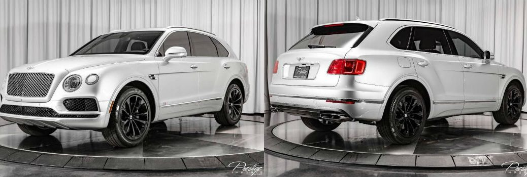 2017 Bentley Bentayga W12 Exterior Driver Side Front Passenger Rear Profiles