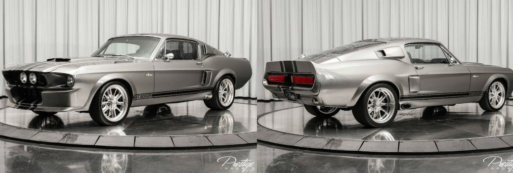 1967 Ford Shelby GT500CR Recreation Exterior Driver Side Front Passenger Rear Profiles