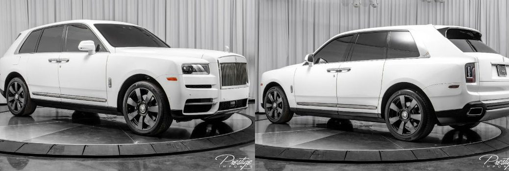 2019 Rolls-Royce Cullinan Exterior Passenger Side Front Driver Rear Profiles